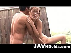 Aika hot outdoor action