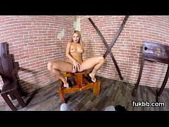 Unusual teenie rubs muff and gets licked and drilled in pov