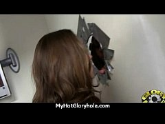 hot couple having oral sex in gloryhole interracial 27