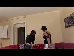 Hot french brunette riding a cock