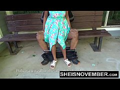 Big Ass Young Black Girl Give Old Man Public Blowjob