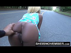 Crazy Blowjob In Middle Of Street Young Ebony Msnovember Deepthroat In Public