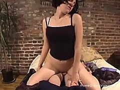 Big booty amateur rides her man