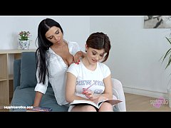 Kyra Queen with Veronica Moore having lesbian sex presented by Sapphix - Lesson