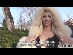 Big titted blonde Eurobabe Chloe Lacourt screwed for cash