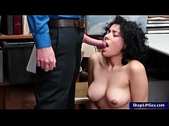 curly hair babe caught stealing and pounded by lp officer