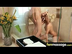 Gorgeous Skinny gets a massage 2