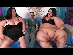 2 fat girls get fucked by 1 white guy