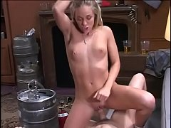 Blonde Judy Star rides cock like a cowgirl while mourning in pleasure