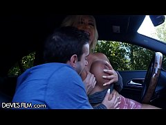 DevilsFilm Busty Brandi Bae Gives Full Service Car Rides!