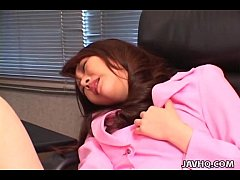 Luscious Japanese chick boned with a dildo