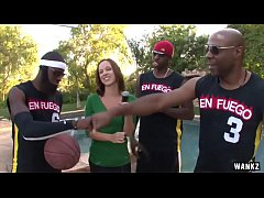 WANKZ- Hot Reporter Gang-Banged by Basketball Team