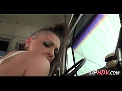Punk school girl with shaved head 3 002