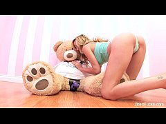 brett rossi plays with strap-on dildo