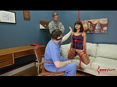 Big-dick drill sergeant doles out rough anal tr...