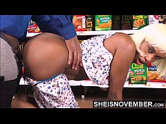 A Stranger Bought My Groceries & I Paid Him With Pussy, Msnovember Spent Her Step Dad Money On Clothes And Now Must Fuck A Stranger In Public in Dog Position Giving Up Ebony Pussy on Sheisnovember