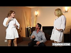 daddy finds out that her step daughters works in a massage parlor