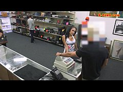 Busty Latina fucked by pawnkeeper after selling her stuff