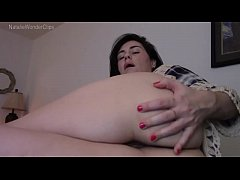 Momther touches her hairy anus