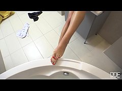 Bootilicious Amirah Gives a POV Footjob in 4K