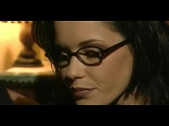 Jessica Gayle with glasses fucks as a real whore
