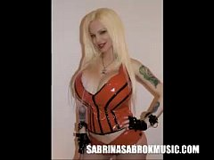 Sabrina Sabrok, sexy punk singer with the biggest breast.