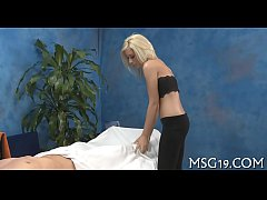 Hot masseuse with tiny bumpers