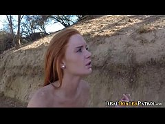 Petite Redhead Alex Tanner Gets Facial From Border Gaurd