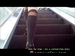 Chidori Cosplay Escalator Upskirt Stop Jerking Off Alone Enjoy Our Cosplay Models Free For A Limited