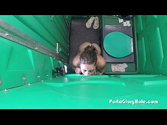 Porta Gloryhole Sucking dick in public 4 1st time