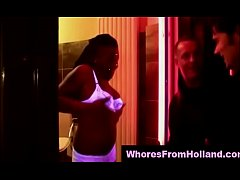 Amateur pays European ebony prostitute for a fuck