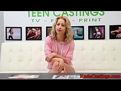 Casting petite teen gets jizzed in mouth