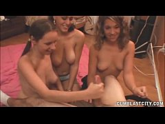 Triple Handjob And Cumblast