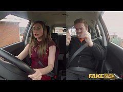 HD Fake Driving School Sexy Russian teacher creampied