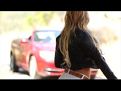 FantasyHD - Hitchhiking teen gets a sexy car fucking