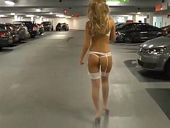Hot girlfriend walking down the streetreet