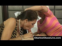 busty charlee chase shares a cock with a nerdy milf