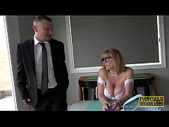 PASCALSSUBSLUTS - Sara Jay slammed hard and fed with cum