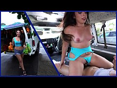 BANGBROS - Fruit Lady Luna Leve Gets Freaky On The Bang Bus!