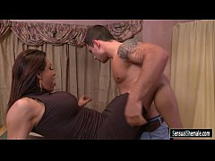 Shemale Jessy Dubai bent over on dining table then analyzed