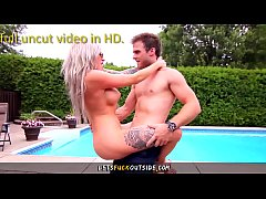 Let's Fuck Outside - Step-Bro Bangs Busty Step-Sisters by the Pool