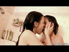 Hot Lesbian Babe Invites Girlfriend Into Shower and They Have Steamy Sex