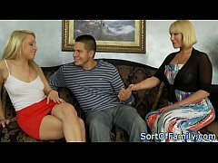 Amateur threesome fun with a greedy stepmom