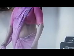Indian old aunty wearing saree then fucks with a guy