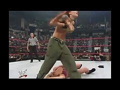 WWE Diva Trish Stratus Stripped To Bra & Panties ( Raw 10-23-2000 )