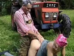 Ugly Trucker Fucks a young village girl For a Ride Home