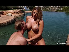 Busty Beauty Brooklyn Chase is Fit to Fuck by the Pool