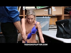 Skinny Blonde Punish Fucked For Stealing