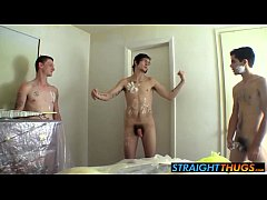 The amateur boys eyeing their friends dick as they get messy