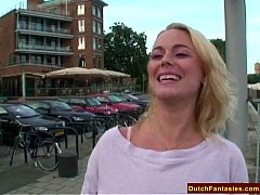 Natural Blonde Dutch Maiden Rough Fuck